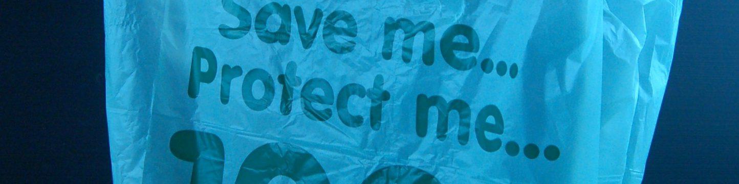 100% degradable plastic bag